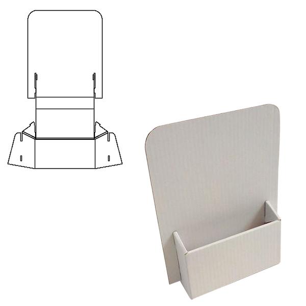 scatole-packaging-espositori-da-personalizzare-modelli-mpm-cartone-Onda-B-espositore-porta-depliant-1-tasca